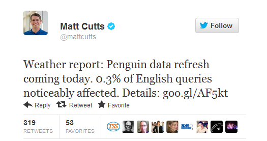 Name:  Twitter _ mattcutts_ Weather report_ Penguin data ..._1350977797061.png Views: 31 Size:  34.4 KB